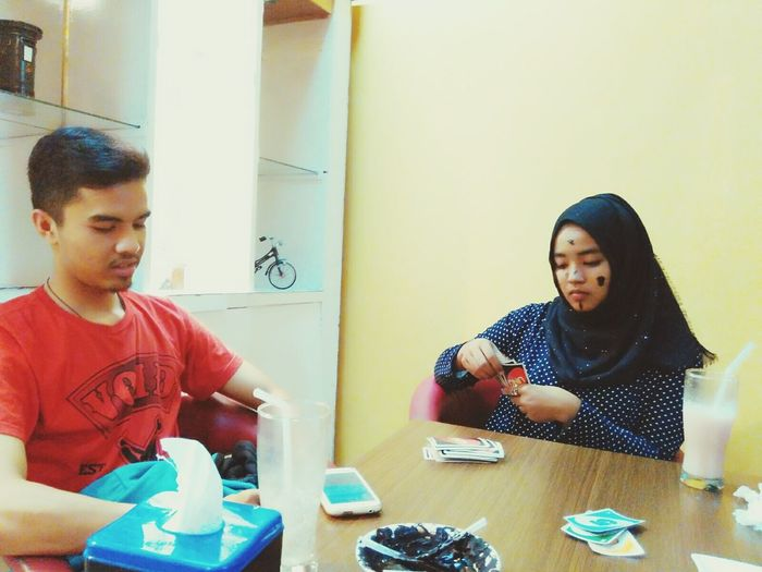Candid Portraits Playing UNO  Happy Time Love♥ Him Hello World Him
