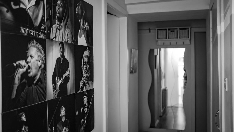Black And White Bnw Bnwphotography Night Our Hallway Portraits Wall