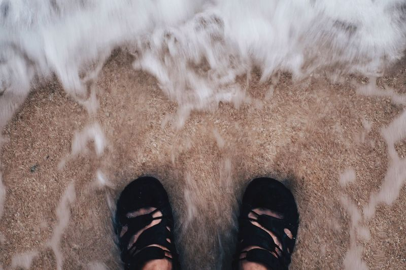 Low Section Shoe Human Leg Standing Personal Perspective High Angle View One Person Human Body Part Sand Directly Above Day Outdoors Real People Men One Man Only Nature Only Men Adult People EyeEmNewHere
