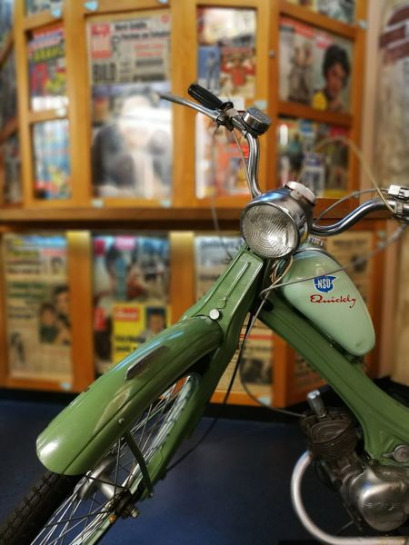 Motorcycles Nsu Quickly Technology Transportation Huaweiphotography Papers Newspaper Shop Museum Motor Vehicle For Sale Store Retail  No People Consumerism Business Finance And Industry Close-up