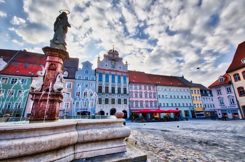 Landsberg am Lech in Bavaria on friday afternoon Architecture Cloud - Sky Outdoors Travel Destinations Street Streetphotography City Urban HDR Deutschland Germany Canonphotography Streetphotograpy Canoneos5dmarkiv Allgäu Shotwithcanon