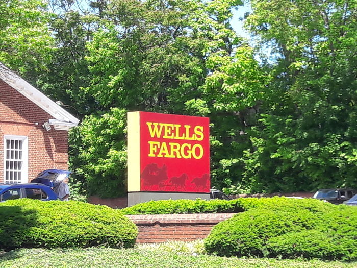 WellsFargo, Text Business Green Color Growth Day Tree Communication Outdoors Nature No People Plant Sky