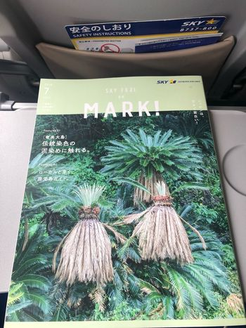 MARK!7月号。奄美大島、沖縄特集でした。夏はすぐそこですね☆ #スカイマーク #SKYMARK Kobeairport Skymark Skymark Airlines Plant Car High Angle View Motor Vehicle Nature No People Day