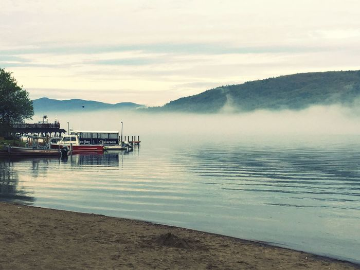 Fog Lakegeorge Lake Cold New York