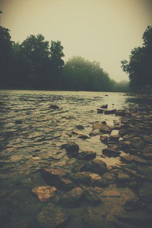 River Foggy Morning Nature Vscocam