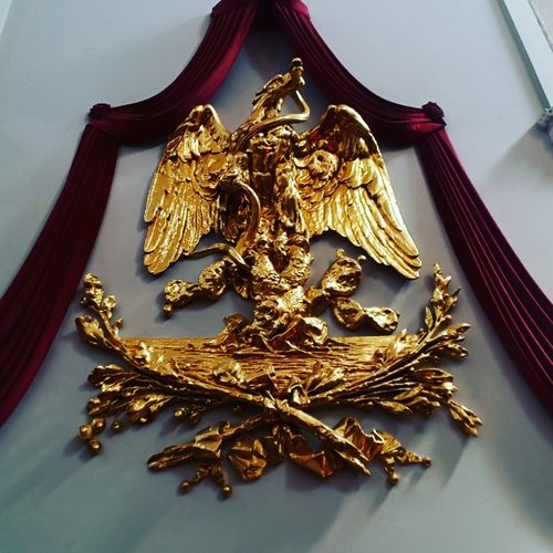 Lugar donde Porfirio Diaz dio su ultima toma de protesta gold Gold Colored Royalty No People Indoors  Mexico City Palacio De Minería Arte Travel Destinations Simbolismo Patria