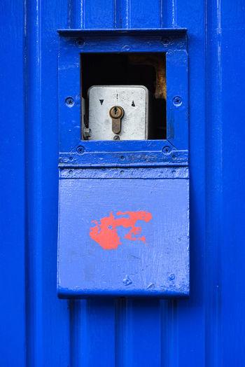 Close-up of meter box