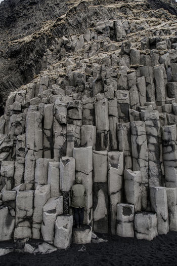 where's wally? #1 Blending In  Camouflage Rocks Stones Basalt Columns Iceland Iceland_collection Black Sand Beach Beauty In Nature Stack Backgrounds Full Frame Textured  Block The Great Outdoors - 2018 EyeEm Awards The Creative - 2018 EyeEm Awards