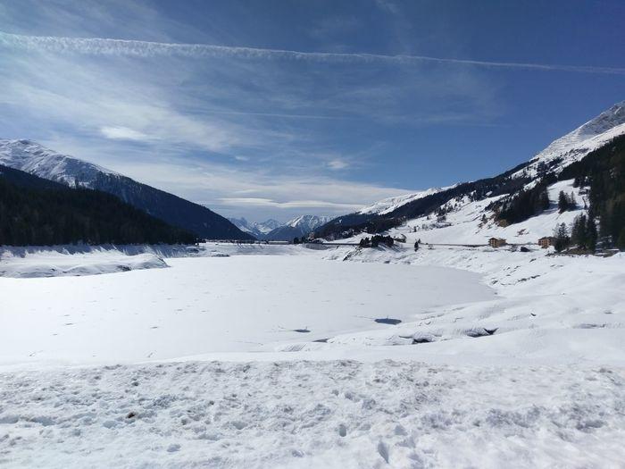DavosLake Landscape Mountain Sky Bündner Matterhorn Day Winter Snow Beauty In Nature