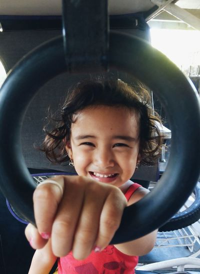 """""""O Smile"""" The way it is fun to set up a natural framing. Kid Smiling Happiness Simple Fun Little Girl Smile Circle Framing"""