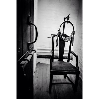 Restraint chair for the mentally ill... Riponworkhouse Yorkshire Gloomgrabber Fiftyshades_of_darkness Ripon Bw_crew Darkshots Bnw_diamond Icu_britain_bw Capturingbritain_bnw