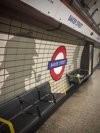 Artistic EyeEmNewHere London Underground Station  Amateurphotography Architecture Bakerstreet Sherlockholmes Signboard Streetphotography Subway Transportation