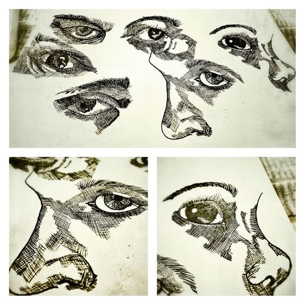 Everyday drawing - attemp to draw eyes Sketch Hand Drawing The Tree Academy Eyes