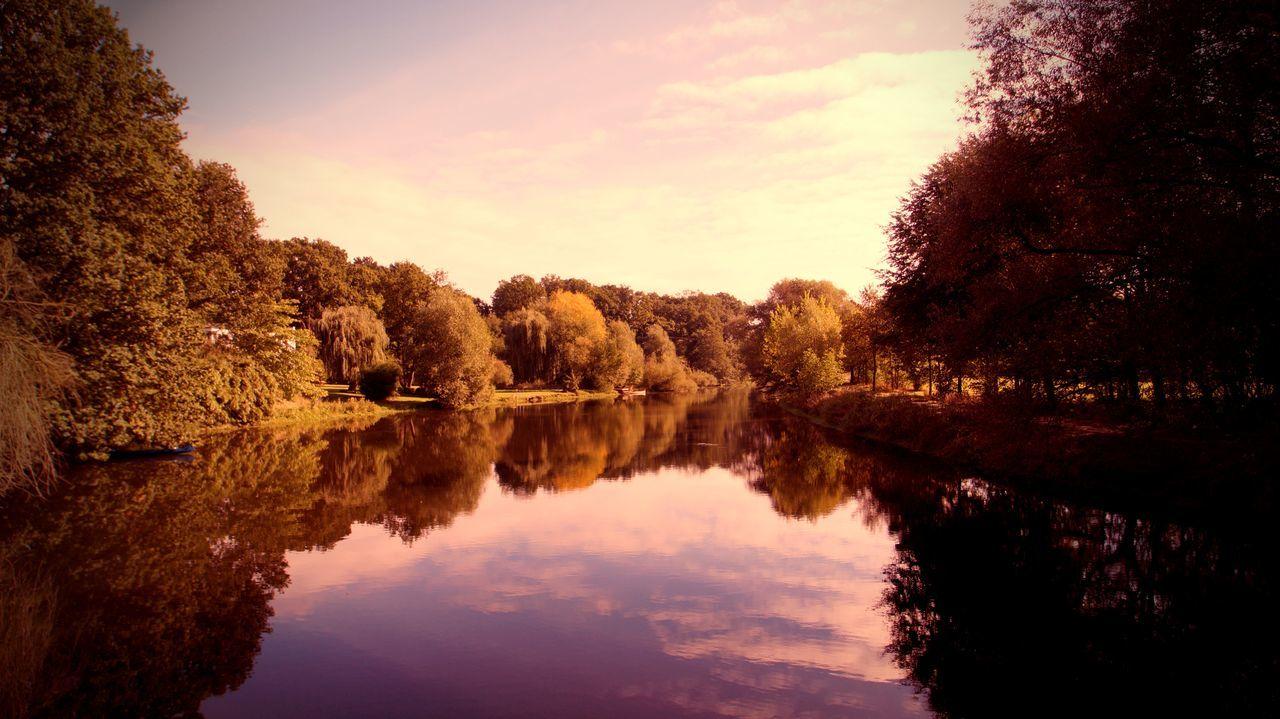 Herbststimmung Herbst Spiegelung Nature Outdoor Wasser Wasserspiegelung Telgte Münsterland Fotografie Lost In The Landscape