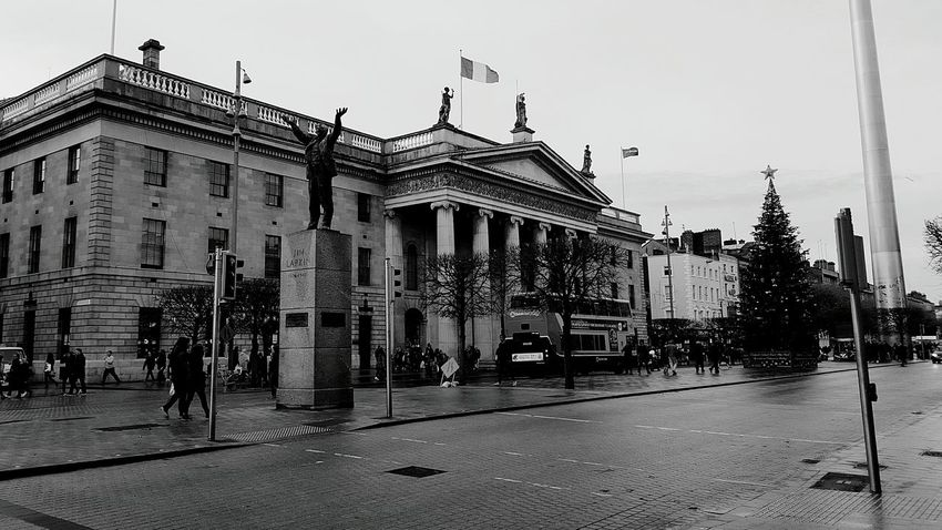 Dublin Dublin, Ireland Dublin Street Photography Blackandwhite Photography Oconnellstreet Post Office Monochrome