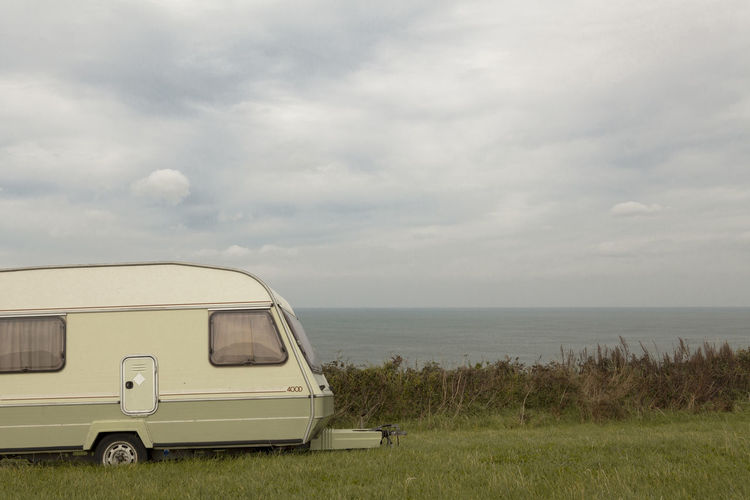 Beach Blackandwhite Colour Day Horizon Over Water Motor Home Nature No People Outdoors Photo Photography Sea Sky Streetphoto Transportation Wales
