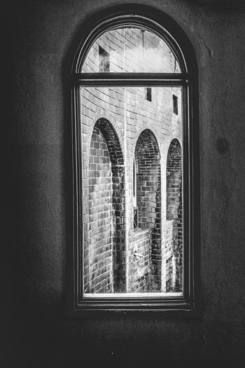 Window view Arch Architecture Built Structure Close-up Day History Home Interior Indoors  No People Window Black And White Friday