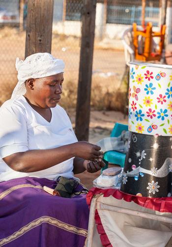 African Vendors Woman Africa Sell Traditional Vendor Zezuru