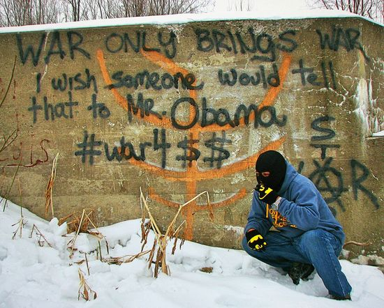 dear mr. president....the truth is that peace has never been attained by war...wheres the change? Notes From The Underground Fight The Power Streetphotography Abandoned Places Rebellious Street Art Political Street Art Anti War Stop War