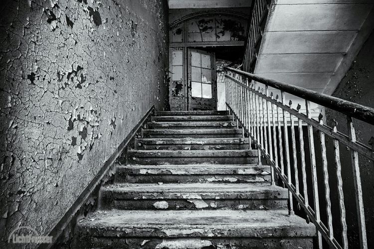 Steps in abandoned building
