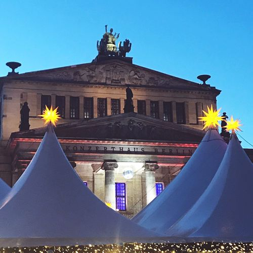 Berlin goes disco! Disco Ball Discover Berlin Christmas In Berlin Konzerthaus Berlin Gendamermarkt Berlin Things To See In Berlin Berlin Architecture Built Structure Clear Sky Low Angle View Day Building Exterior Blue Outdoors