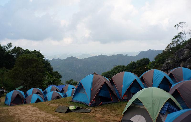 Tent Sky Cloud
