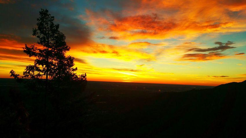 Top of the Manitou Incline Colorado Colorado Springs Manitou Hiking Sunrise Sky Skyporn