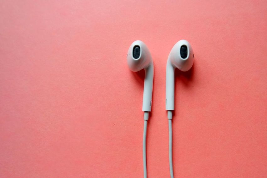 No People Studio Shot Close-up Indoors  Day Headphones Earphones Indoors  Pink Color