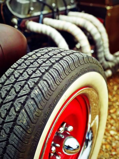 Rollin into 2018 like... Rolling Into 2018 2018 Red Wheel Christian Kustomz Check This Out Rat Rod RatRod Tire Transportation Wheel Mode Of Transport Close-up Land Vehicle No People