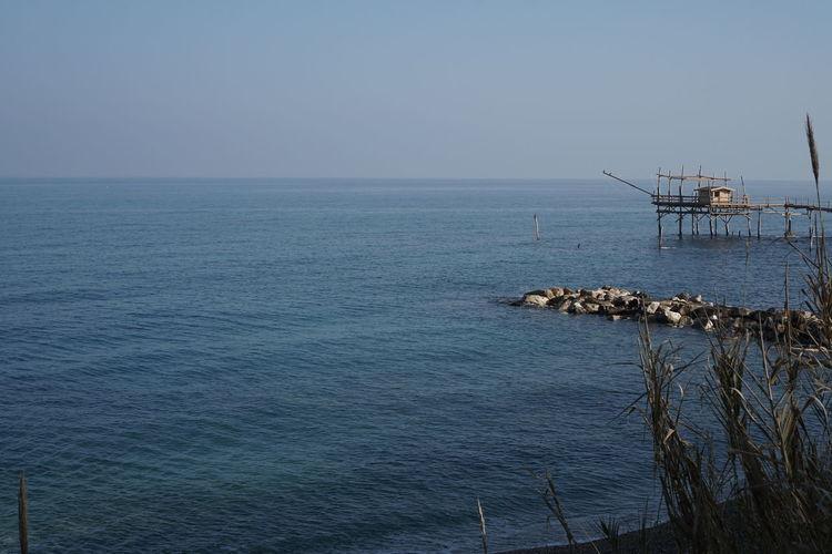 Abruzzo Calata Turchi Environmental Conservation Horizon Over Water Mare D'inver Relaxing Moments San Vito Mari Sea Seascape Trabocco Tranquil Scene Turchino