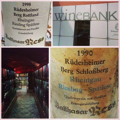 Besser als jeder Banktresor 😉 WineBank Balthasarress Vdp GrossesGewächs Rheingau Riesling Spätlese