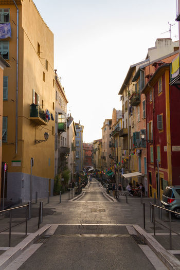 A street from Nice / France Apartment Architecture Balcony Building Building Exterior Built Structure Cafe City Culture Day France House Life Style Natural Nice Outdoors Reflection Residential Building Restaurants Tourism Tourist Travel Travel Destinations Windows
