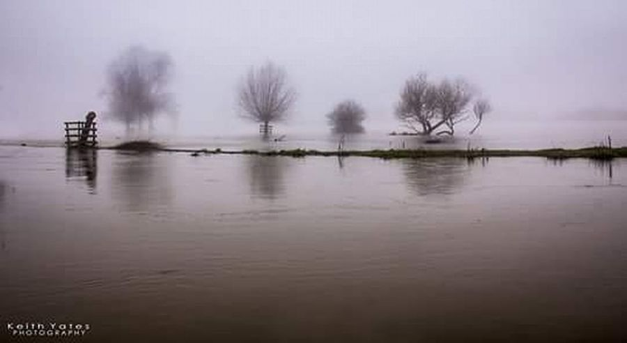 'Who left the tap running?' Foggy Morning Fog Flood River Trees Countryside Englishcountryside
