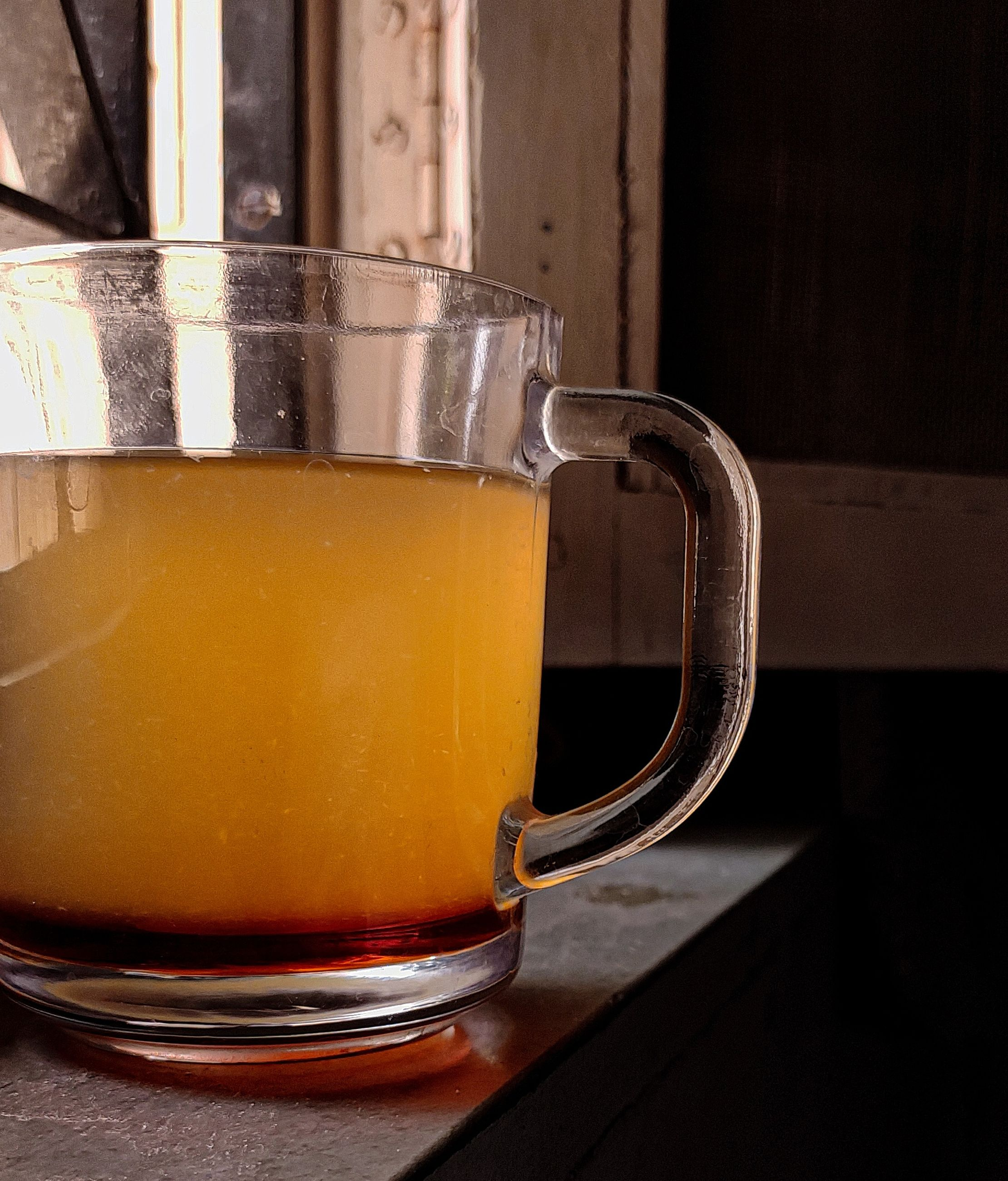 food and drink, drink, refreshment, household equipment, drinking glass, alcoholic beverage, glass, beer glass, indoors, beer, still life, table, cup, mug, close-up, no people, distilled beverage, freshness, frothy drink, tea, hot drink, food, alcohol, wood