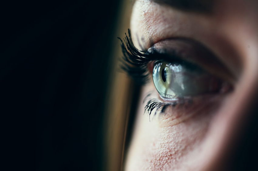Beauty Clear Close-up Extreme Close-up Eyeball Eyebrow Eyelash Eyesight Girls Green Human Eye Iris - Eye Macro Mascara Ophthalmologist People Person Portrait Real People Sensory Perception Young Adult