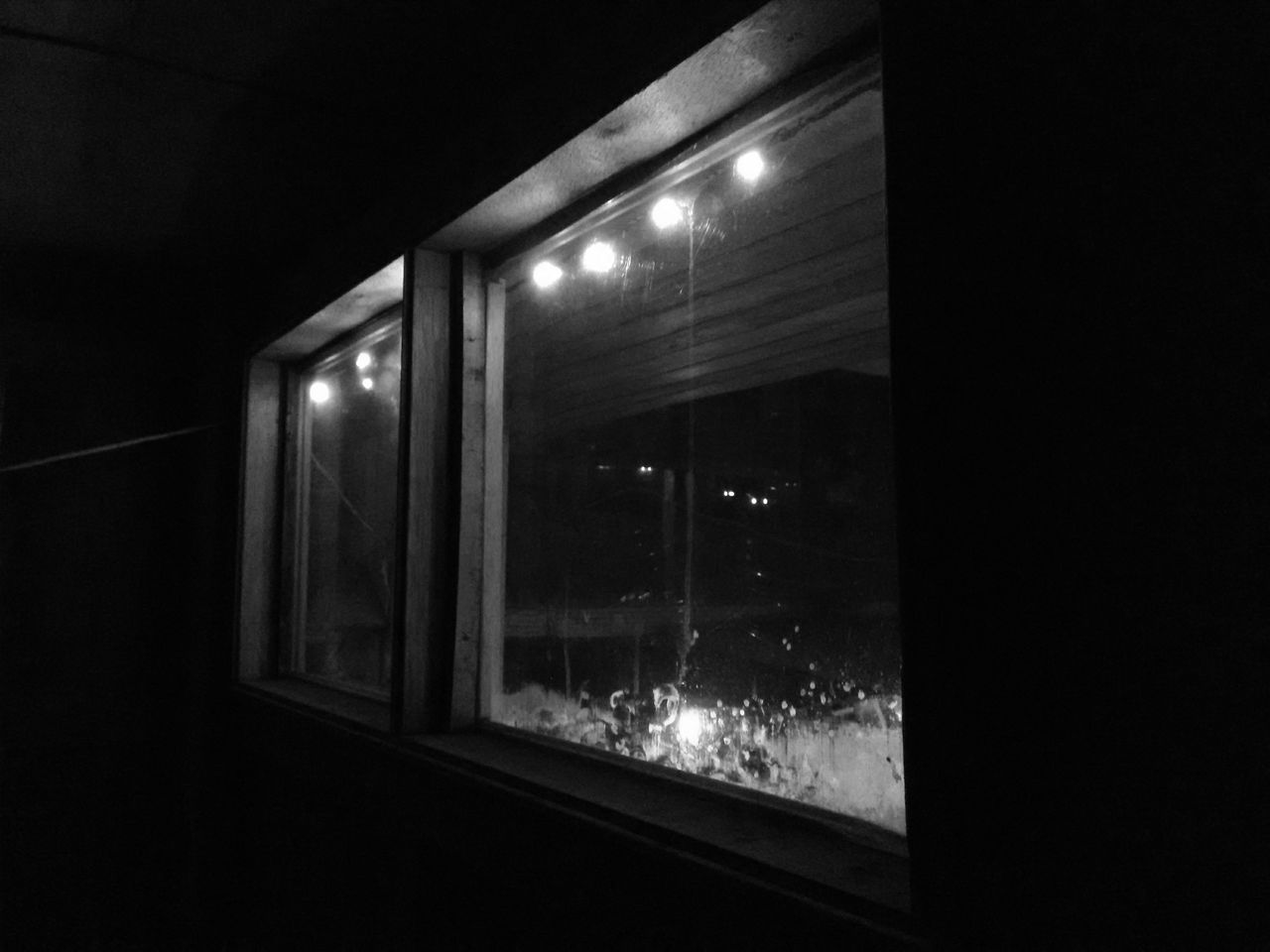 illuminated, night, indoors, window, dark, no people, architecture, nature