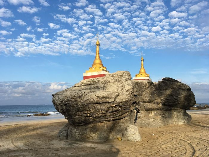 Stupas at Ngwe