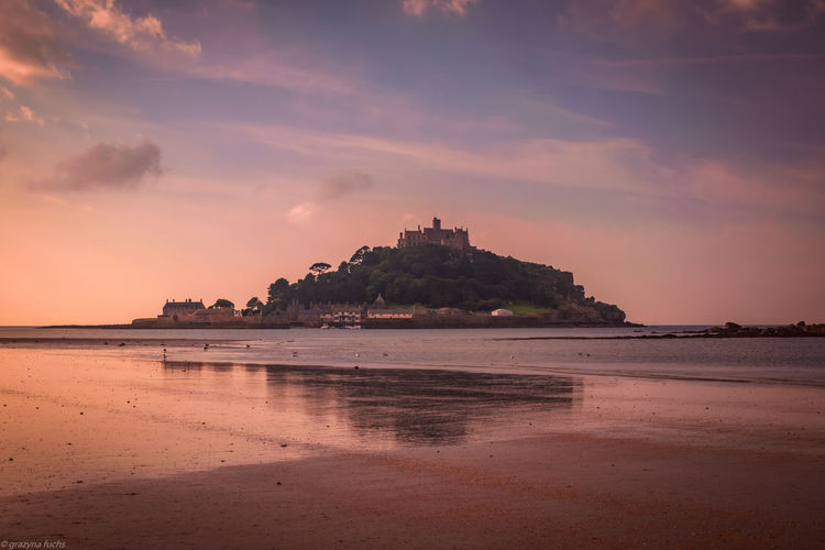 St Michael's Mount near Marazion in Cornwall Architecture Architecture_collection Castle Architecture Beach Beauty In Nature Building Building Exterior Built Structure Castle View  Cloud - Sky Land Mountain Nature Outdoors Reflection Scenics - Nature Sea Sky Sunset Tranquil Scene Water EyeEmNewHere My Best Travel Photo