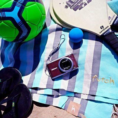 meu kit de praia my beach kit mi kit de playa Praia Verão Verao2014 Futah Futahnaareia Havaianas Bola Raquetes Samsung Beach Summer Summer2014 Ball Rackets Playa Verano Verano2014 Raquetas Férias Vacation Vacaciones