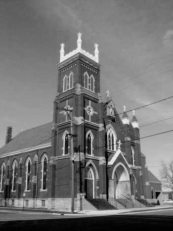 Old Church Historical Church Church Churches Brick Building Old Building Exterior Black & White