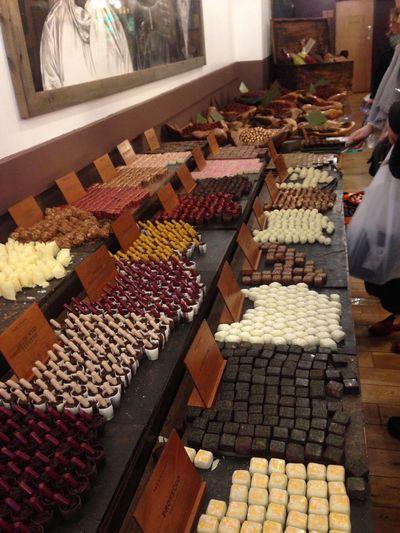 Handmade assorted chocolates Brick Lane, London Cherries Dark Chocolate White Chocolate Arrangement Artisan, Artist, Skilled Worker; Expert, Master Fruit Ginger Handmade Milk Chocolate No People