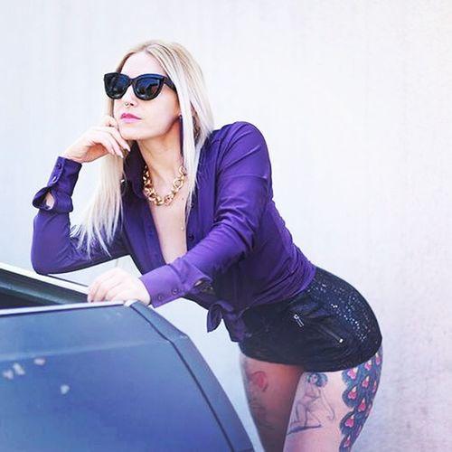 Purple shoot. Thank you to my brother 📷 Shotting  Photoshoot Outdoorshooting Wildshot Fashion Photography Fashion&love&beauty Blondiegirl PinUpGirl 1970's Retro Style RETROSUNGLASSES Vintage Style Chevrolet Purple Chevroletmalibu62 INKEDGIRL