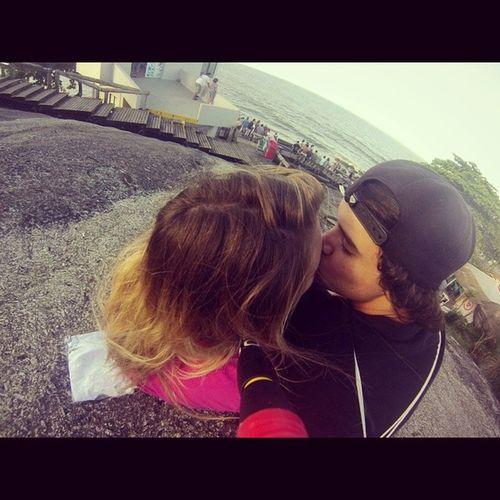 Ai Deus meu, ele gosta de praia que nem eu <333333 Gopro Matinhos Apx Love kiss