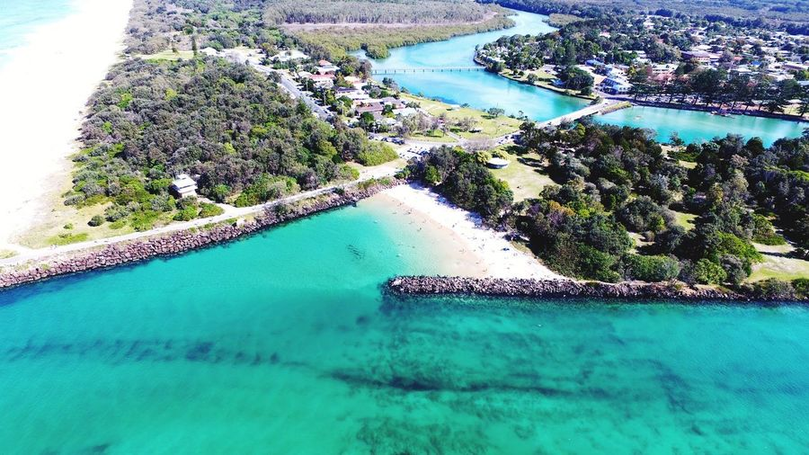 Brunswick Heads Australia Aerial View Aerial Drone  Dronephotography Water Swimming Pool Hot Spring Sea High Angle View Tree Reflection