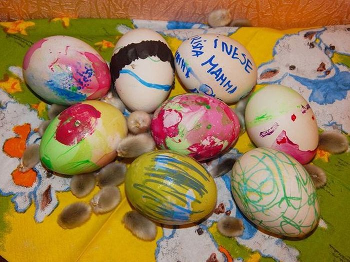 Children painted 😊🐣😊🐣😊🐣 Easter Easteregg Eggs ChildrenLatvija Latvia Latviancolors Amateurs_shot Best_free_shot Total_shot Loves_kids Loves_life Vscomood Vscolatvia Easter Ready