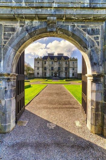 The fabulous entrance to Portumna Castle! Arch Travel Destinations History Built Structure Architecture Day No People Ancient Outdoors Grass Building Exterior Politics And Government Sky