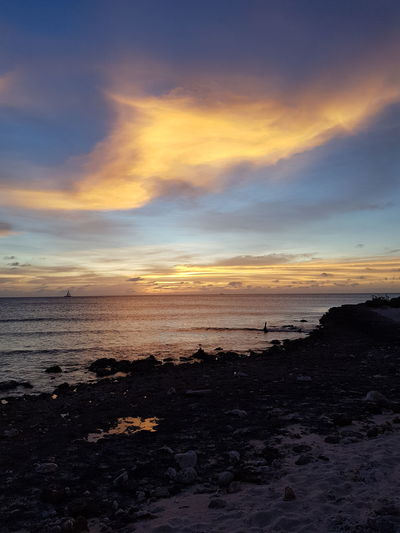 puurnatuur Aruba Samsungphotography No Edit No Filter Cloud - Sky Nature Seascape Water Sea Wave Sunset Low Tide Beach Sand Summer Reflection Sky