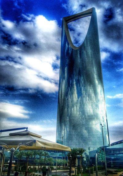 tallest building in Riyadh! Riyadh Mamlaka Kingdom Tower Olaya Street Skyscraper Architecture Building Iphonography