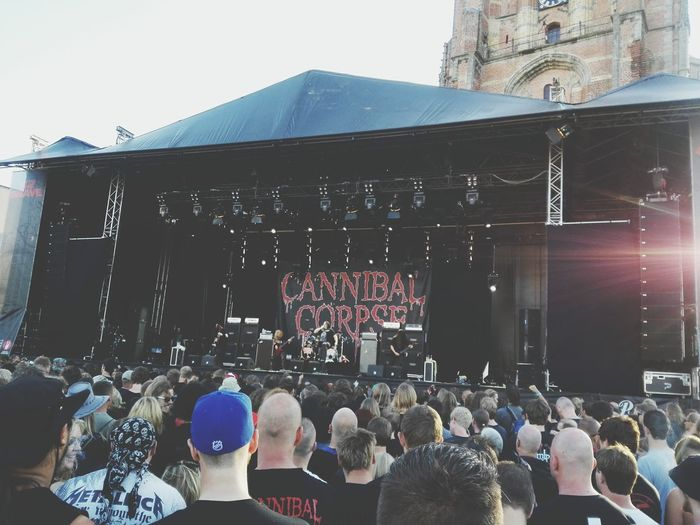 Taking Photos Cannibal Corpse Hanging Out Enjoying Life Metalhead Into The Grave