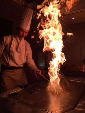 The art of cooking Japanese Cooking Style Cooking Dinner Fire Tepanyaki Chef Tepanyaki Cook With Passion Cookingwithlove Chef
